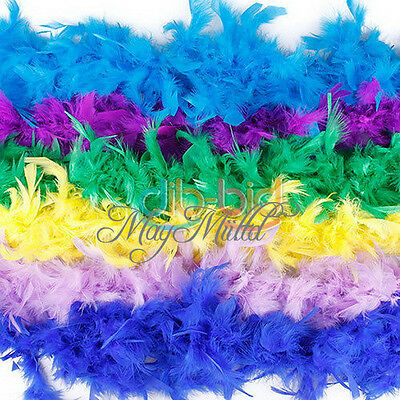 2M 79Inch Long Fluffy Feather Decoration Boa Party Costume Wedding Dress Decor O