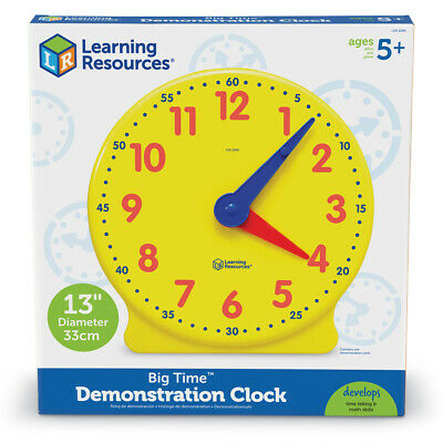 Learning Resources Big Time Learning Clock 12-Hour Demonstration Clock