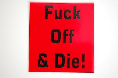 F@#* Off And Die Sticker Decal (2) JDM Funny Hardhat  Helmet Truck Car Hunt