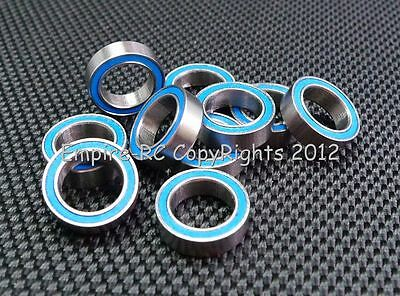 [4 PCS] MR128-2RS (8x12x3.5 mm) Rubber Sealed Ball Bearing (Blue) MR128RS