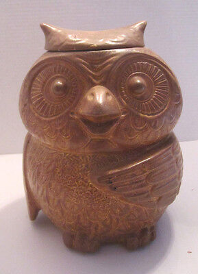 Vintage Nelson MCCOY Pottery WOODSY OWL COOKIE JAR #204 Repaired Lid