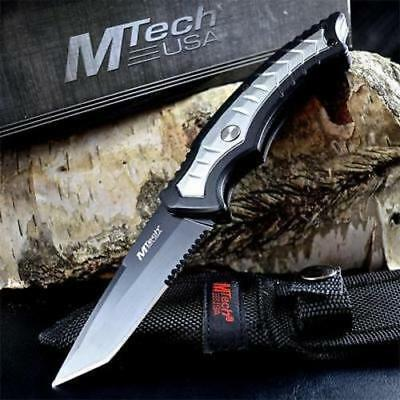 "7.5"" TACTICAL COMBAT TANTO Survival HUNTING KNIFE Bowie Military Fixed Blade NEW"