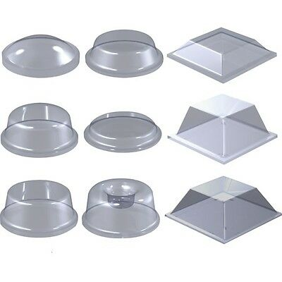 8x Polyurethane Round Rubber Foot Self-Adhesive Clear Feet Recessed #RF65
