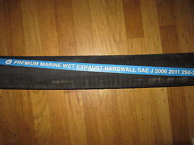 """4"""" Id  Marine Boat Wet Exhaust Hose Wire Reinforced Premium Mpi Brand  Per Inch"""