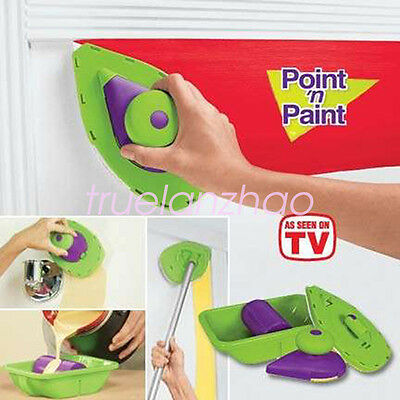 PAINT Roller PERFECT SPEED HOME PAINTING SYSTEM Point N Paint As Seen On TV