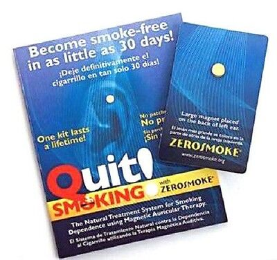 NEW Zerosmoke Stop Quit Smoking Weight Loss Acupressure Magnet Therapy