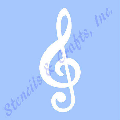 "5"" Treble Clef Stencil Music  Musical Notes Stencils Note Template Paint Art New"