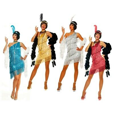 Flapper Costumes Adult Flapper Girl Dress Halloween Roaring 20s Fancy Dress