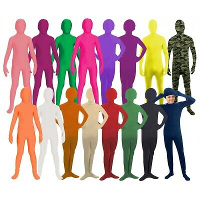 Morph Costume Kids 2nd Skin Suit Spandex Bodysuit Zentai Halloween Fancy Dress