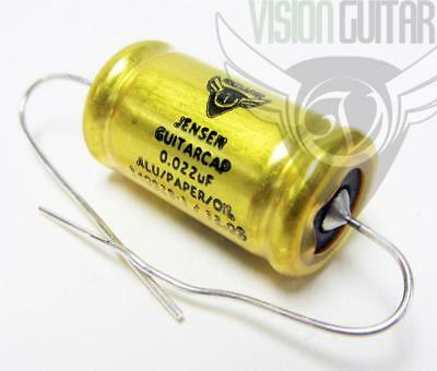 NEW! JENSEN Aluminum Foil PAPER IN OIL Guitar Cap .022 uF Capacitor 400v