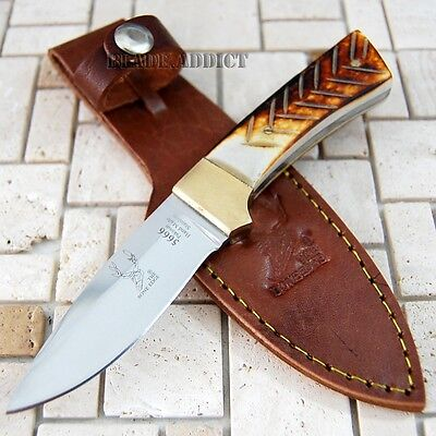 """6"""" Bone Handle Fixed Blade Camping Hunting Bowie Skinner Knife Fishing 5666-"""
