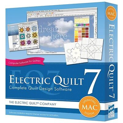 Electric Quilt 7 EQ7 Quilting Design Software for APPLE MAC