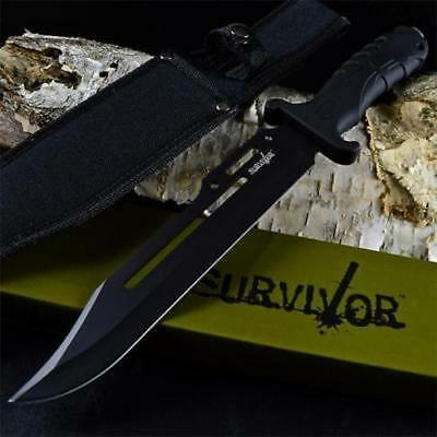 "13"" TACTICAL HUNTING MACHETE SURVIVAL KNIFE Military Bowie FIXED BLADE w/ Sheath"
