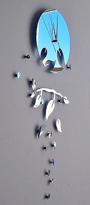 DIY Modern Mirror Look wall Clock, New Design Decorative Wall Art Home De'core