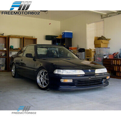 FIT FOR 92 93 Acura Integra T R Style Poly Urethane Front Bumper Lip