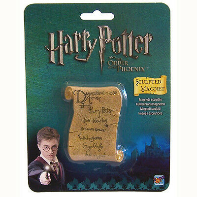 Harry Potter Dumbledores Army Scroll Sculpted 3D Fridge Magnet Gift by Popco