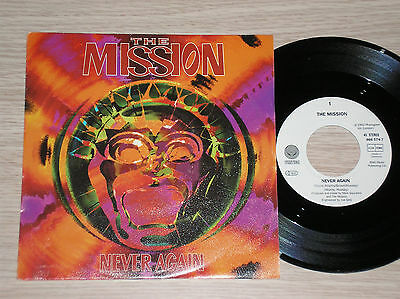 "The Mission - Never Again / Beautiful Chaos - 45 Giri 7"" Germany"