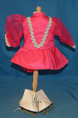 "Pink Ice Skating Outfit fits 18"" American Girl Doll with Skates"
