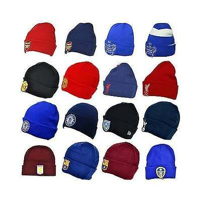 Football Team OFFICIAL Beanie Hats with fold up Cuff - Knitted Woolly Gift - NEW