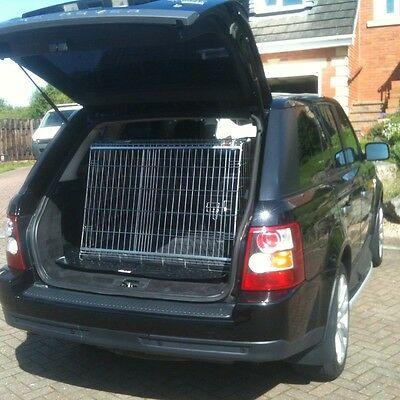 Range Rover Sport Sloping Car Dog Cage Boot Travel Crate Puppy Guard