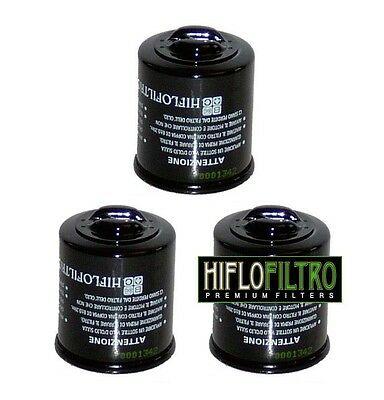PACK of 3 OIL FILTERS for PIAGGIO 125 X9 2001 to 2007