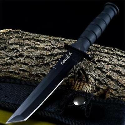 "7.5"" TACTICAL COMBAT NECK KNIFE Survival Hunting TANTO BOWIE DAGGER Fixed Blade"