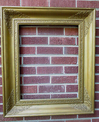 Antique French Empire VICTORIAN Large Pine Wood PORTRAIT Picture Frame