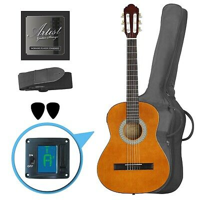 Artist CL34AM 3/4 Size Classical Guitar Pack, Nylon String - Amber - New
