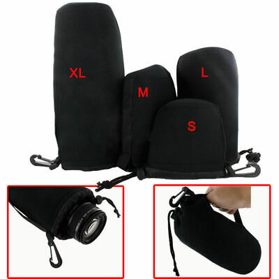4PCS New Neoprene DSLR Camera Lens Protection Bag Pouch for Nikon Canon Sony slr