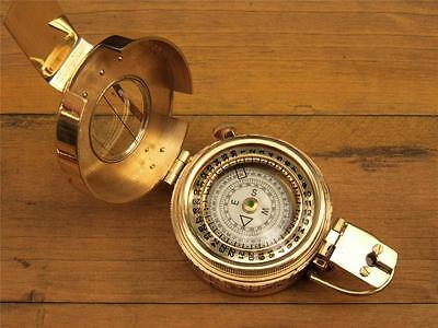 Solid Brass Nautical Ww2 British Military Mark 111 Prismatic Pocket Compass