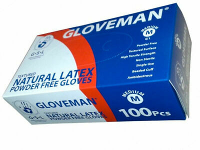 Gloveman Box / Boxes / Case of Disposable LATEX Powder Free Gloves - 1 - 1000