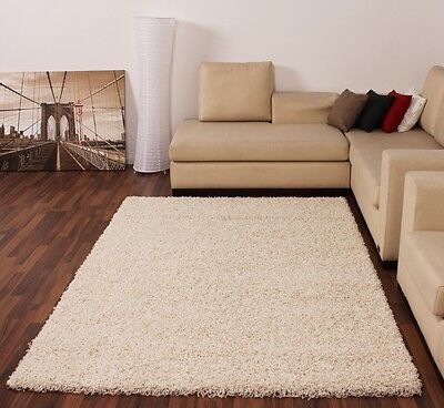 Shaggy Hochflor Langflor Teppich Sky Einfarbig in Creme