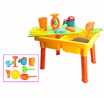deAO Kids Sand and Water Play Table with Accessories Including Bucket and Spade