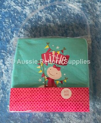 Little Lil SISTER Girls T Shirt Size 000 New Baby Arrival Bright Bots NEW