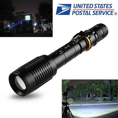 2000Lumen UltraFire CREE XM-L T6 LED Zoomable Focus 18650 Flashlight Torch Black