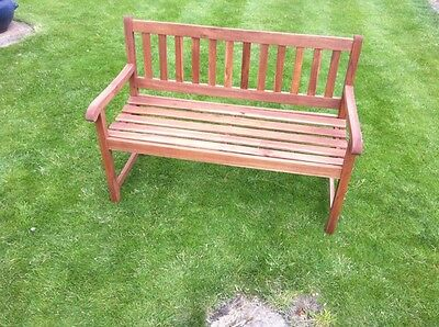 Garden Bench 2 Seater Hardwood Garden Patio Outdoor Wood Funiture