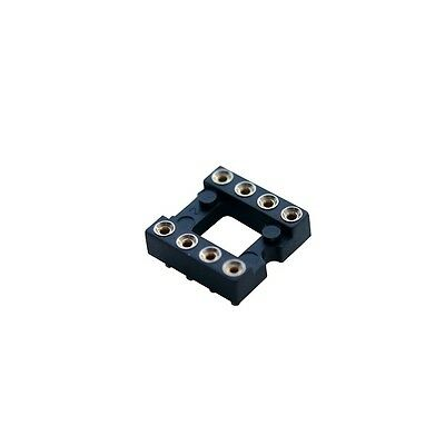 8 Way Surface Mount IC 0.3in Turned Pin DIL Socket (Pack of 2)