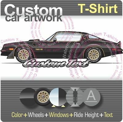 f0b96d36 Custom T-shirt 76 1976 1977 78 1978 50th Pontiac Firebird Trans Am 400 T