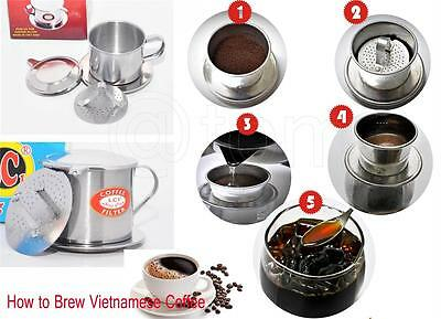 Vietnamese Coffee Filter Press Maker - High Quality Stainless Steel - BigSize 10