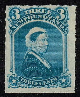 Newfoundland 1877 3c. blue rouletted, MH (SG#42)