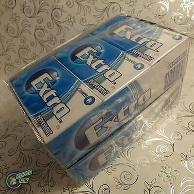 Wrigley's EXTRA PEPPERMINT SUGARFREE CHEWING GUM BulkBox 24x14pcs Blue Wrigley