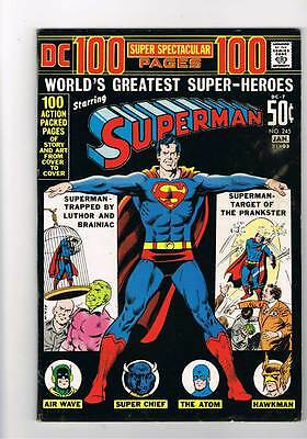 Superman # 245  100 page Spectacular  grade 8.5 Super Scarce Hot Book !!