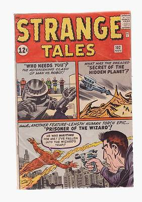 Strange Tales # 102  2nd solo Human Torch grade 4.0 scarce hot book !!
