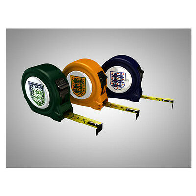 The Official England 3 Lions World Cup Tape Measure 5M - Green/yellow/blue