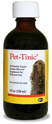 Pet-Tinic Liquid vitamin-mineral supplement for Dogs and Cats 4oz