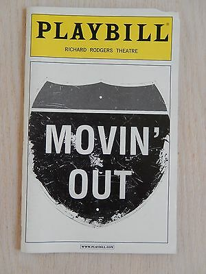 December 2002 - Richard Rodgers Theatre Playbill -  Movin' Out - John Selya