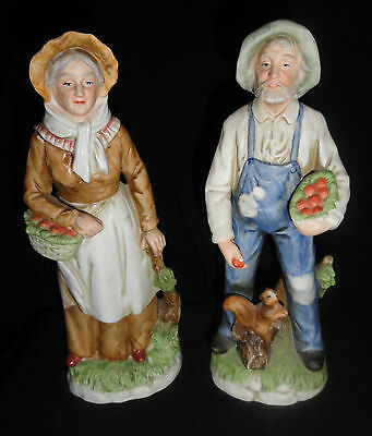 quot home interiors homco old country couple man quot homco victorian lady figurines sercadia