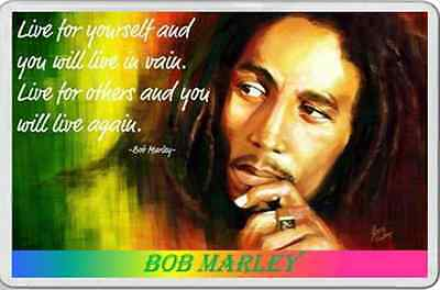 BOB MARLEY FRIDGE MAGNET psychedelic hippy era personal quote stocking filler