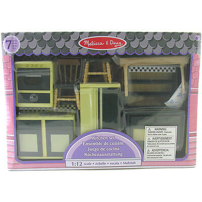 Melissa & Doug Miniature Dolls House Kitchen Furniture NEW