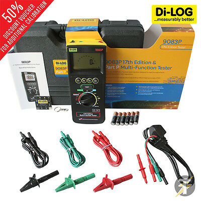 Di-Log 9083P & Part P 18th Edition Multifunction Tester Accessories &Calibration